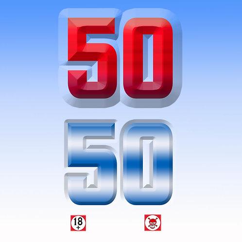 50/50 RaspberryMenthol