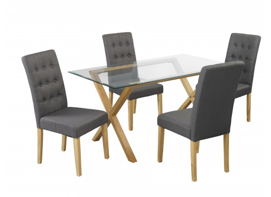 Cadiz Table & Roma Grey Chairs