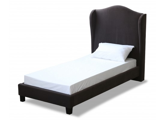 Chateaux Wing Bed – Single charcoal