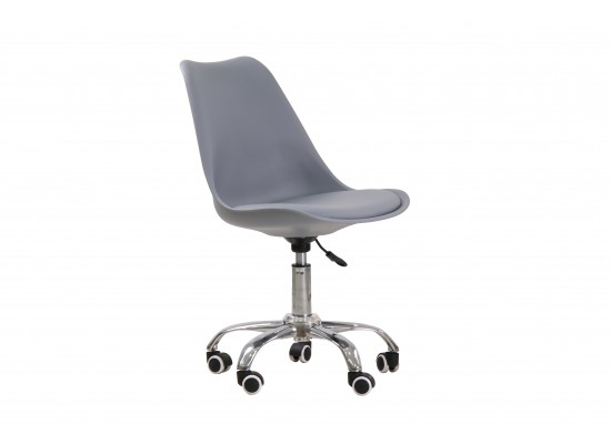 Orsen swivel office chair in Grey