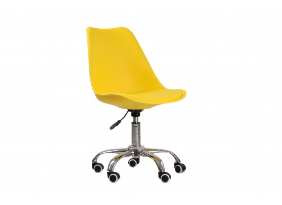 Orsen swivel office chair in Yellow
