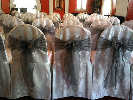 The most elegant chair cover fabric to use is Damask