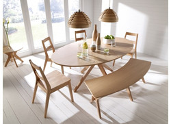 Malmo Dining Bench View with Table