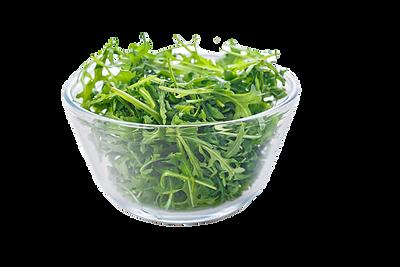transparent-bowl-of-fresh-arugula