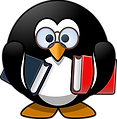 penguin with books.png