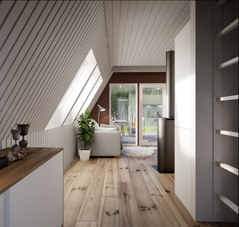A-frame Smart Wood Cyprus DUO model