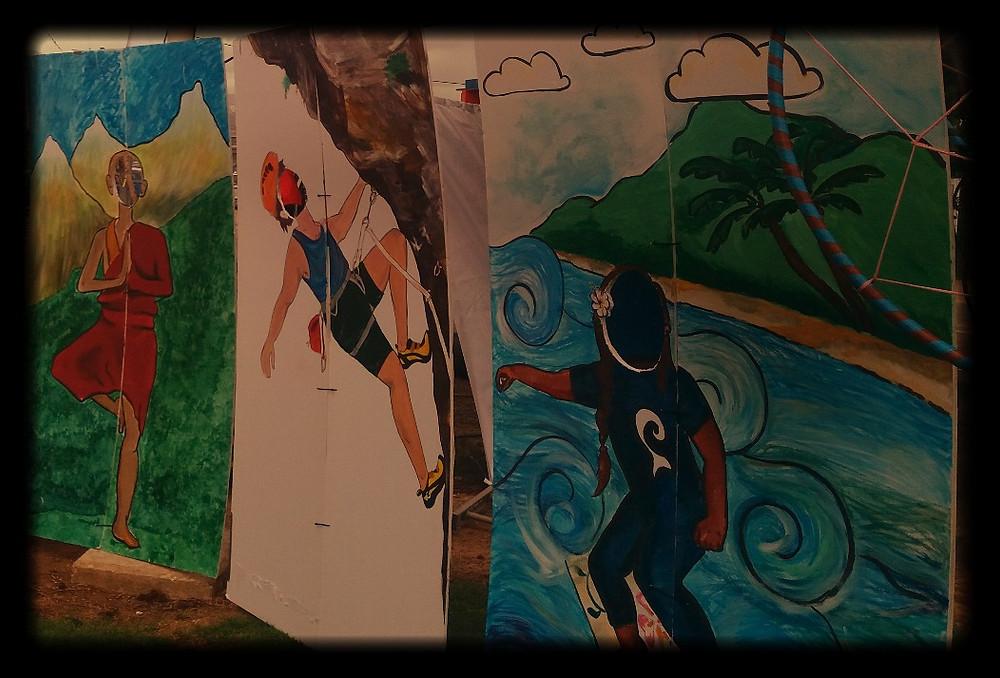 ציורים בפסטיבל במרכז קלור כפר בלום-צלמה גילי מצא