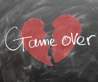 Broken heart relationship game over