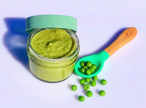 homemade baby food pea puree