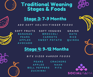Stage 3 and 4 weaning food list by age