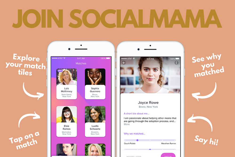 Join the SocialMama app to meet mom friends.