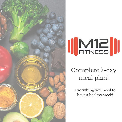 M12 Fitness 7-Day Meal Plan
