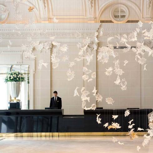 The Peninsula Hotel in Paris Lobby Entrance