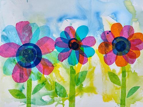 'Flowers' Card
