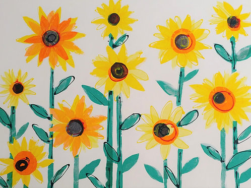 'Sunflowers' Card