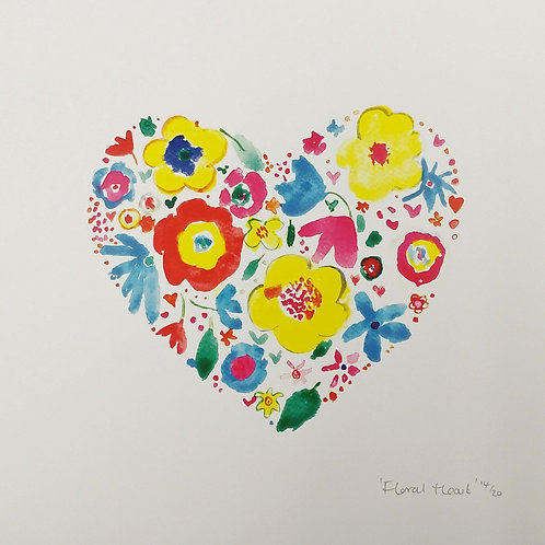 'Floral Heart' Print