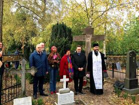 Освящение креста на русском кладбище в Копенгагене