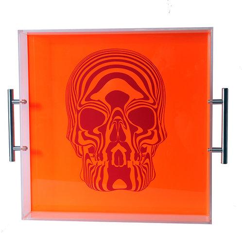 Skull Tray,Neon Orange
