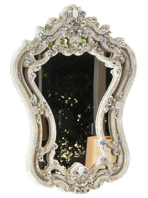 Baroque Crystal Mirror, Made with SWAROVSKI®  Crystal