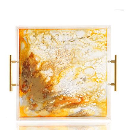 Oro Tray, Resin and Acrylic