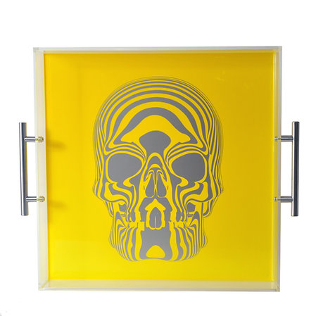 Skull Tray, Neon Yellow