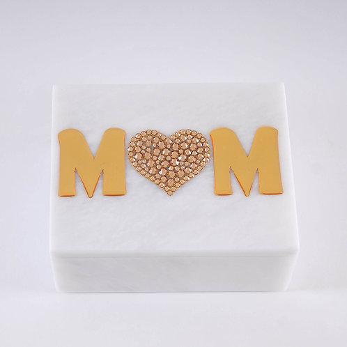 Mom Crystal Heart Box