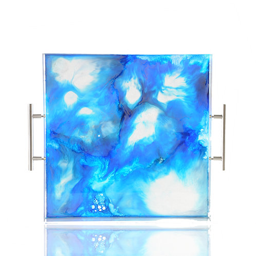 Lagoon Tray, Resin and Acrylic