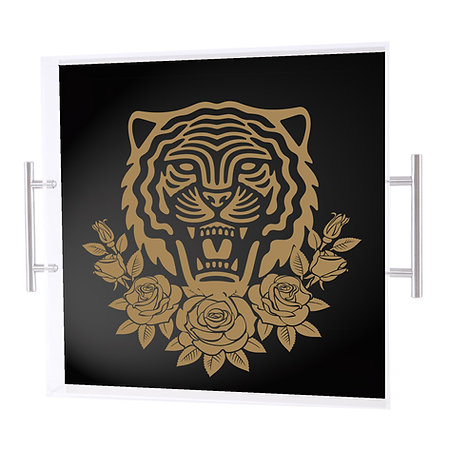 GRRR Tray, Black & Gold