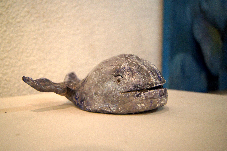 Baleine terre cuite