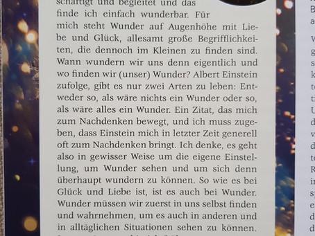 """Claudia in der Zeitschrift """"efa"""" zum Thema: Über was wundern wir uns eigentlich so im Leben?"""