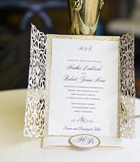 Lasercut Bi-Fold Invitation