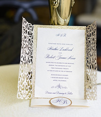 Lasercut Bi-Fold Invitation