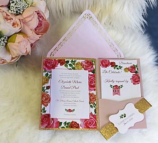 Rose Wedding Invitation
