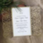 Lase Lasercut Wedding Invitation