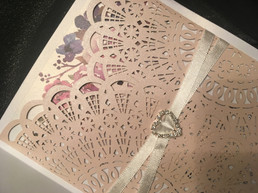 Lasercut Invitation