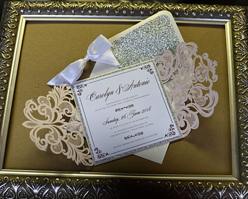 Blush Lasercut Invitation