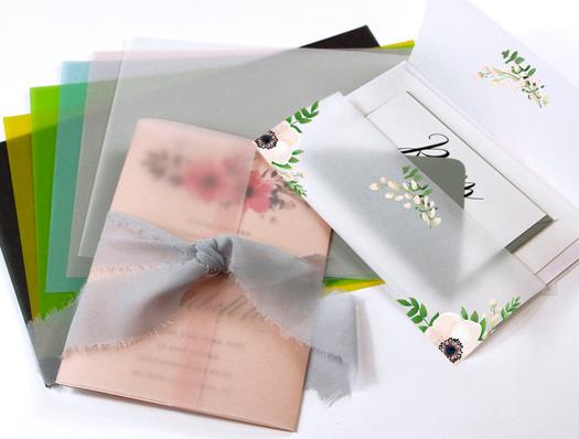Vellum Wraps for Invitations