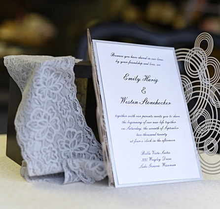 Infinity Rings Lasercut Invitation