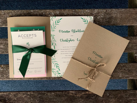 Greenery Folder Invitation