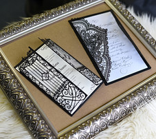 Elegant Laser cut Wedding Invitation