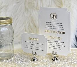 Foilpress Wedding Invitation