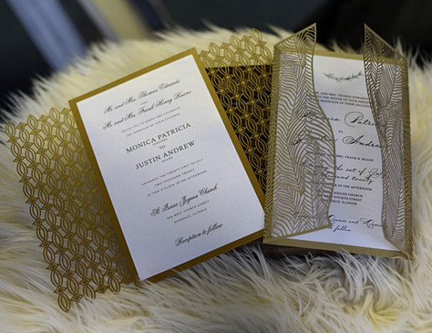 Gold Lasercut Invitation