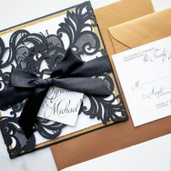 Black Lasercut Invitation
