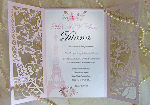 Paris Quince Anos Invitation