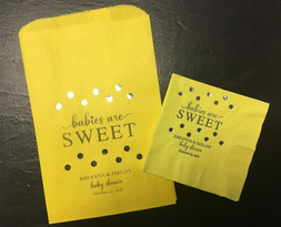 personalized bags & napkins