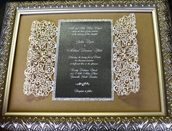 Lasercut Bifold with White Ink