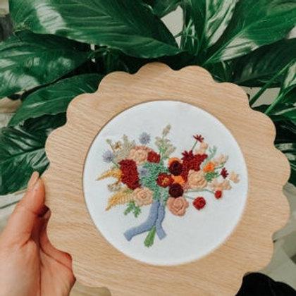 Custom Bouquet Embroidery Hoop