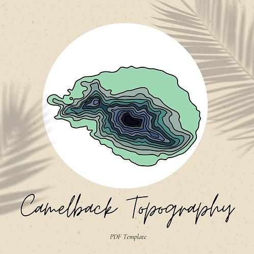 Camelback Topography - Embroidery PDF Pattern