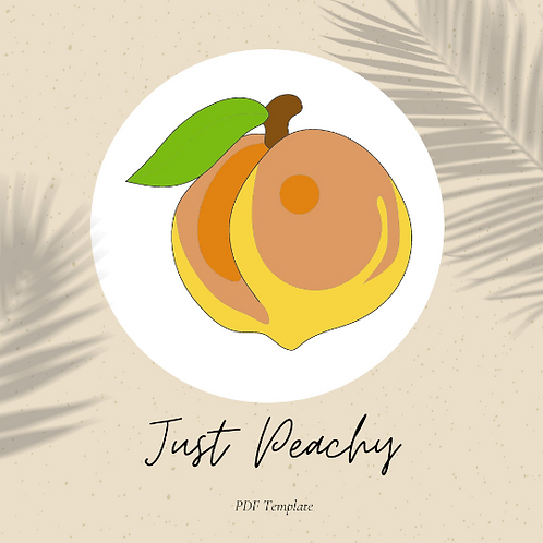 Just Peachy - Embroidery Template PDF