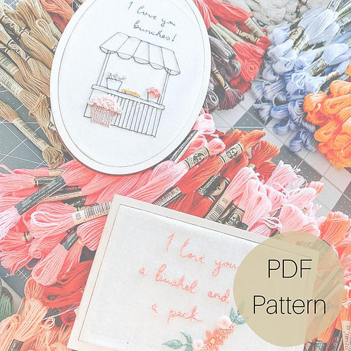 Flower Stand Embroidery Template